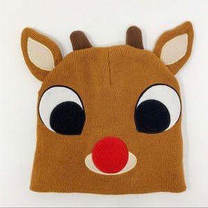 Rudolph Christmas Beanie One Size